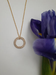 Gold Filled 'love and be loved' Necklace