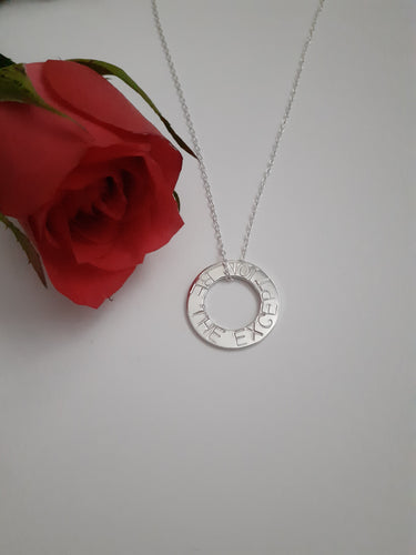 Sterling Silver 'be the exception'  Necklace