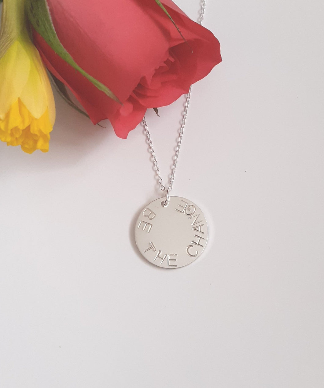 Sterling silver Midi Disc Necklace