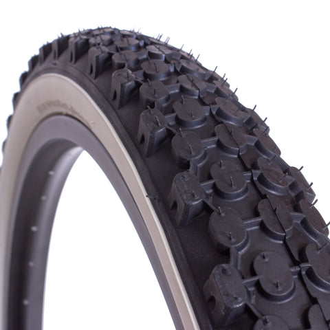 e701 26 inch tire black with white wall