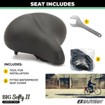 Big Softy V2 Universal Exercise Seat Kit with Rain Cover and Tool