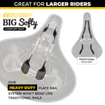 Deluxe Big Softy V1 Exercise Seat Kit with Gel Cover, Rain Cover and Tool