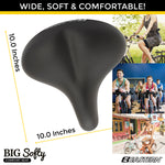 Big Softy Premium Cruiser Bike Seat w/ Cover & Tool