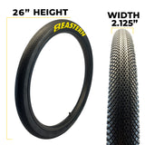 eastern bikes 26 inch growler tires measurements
