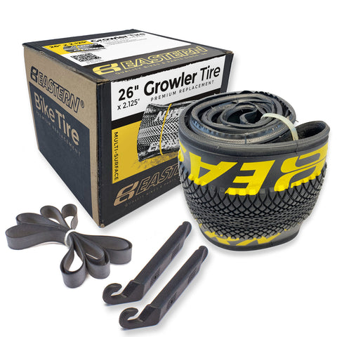 eastern bikes growler 26 inch tire repair kit 1-pack black and yellow