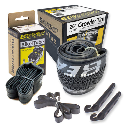 eastern bikes growler 26 inch tire and tube repair kit 1-pack black and silver