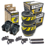 eastern bikes growler 26 inch tire and tube repair kit 2-pack black and yellow