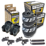 eastern bikes growler 26 inch tire and tube repair kit 2-pack black and silver