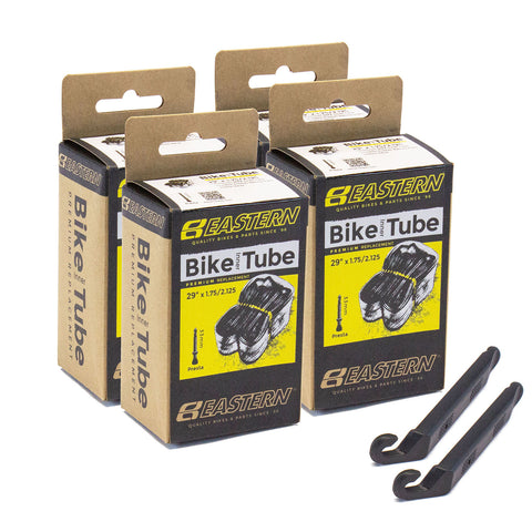 eastern bikes 29 inch tube repair kit 33mm presta valve 4 pack