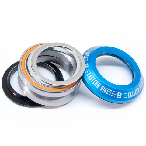 eastern bikes 45/45 headset integrated sealed bearing blue anodized