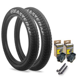 eastern bikes curb monkey tire kit 1 pack with tubes and levers black and silver
