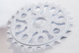 eastern bikes medusa 25 tooth bmx sprocket white anodized