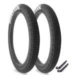"Throttle 20"" x 2.2"" Tire Repair Kit Black/White - 2 pack"