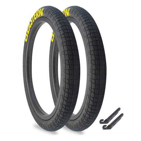 "Throttle 20"" x 2.2"" Tire Repair Kit Black/Yellow - 2 pack"