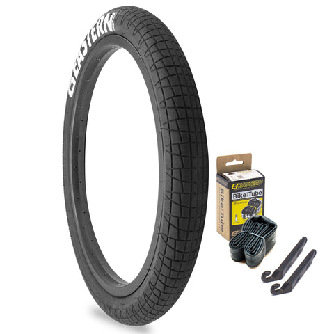 "Throttle 20"" x 2.2"" Tire and Tube Repair Kit Black/White - 1 pack"