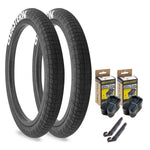 "Throttle 20"" x 2.2"" Tire and Tube Repair Kit Black/White - 2 pack"