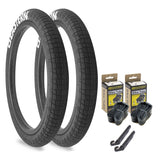 "Throttle 20"" x 2.3"" Tire and Tube Repair Kit Black/White - 2 pack"