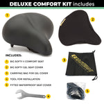 Deluxe Big Softy V2 Universal Exercise Seat Kit with Gel Cover, Rain Cover and Tool