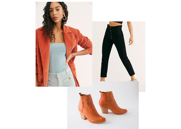 Ani Rust Fall Outfit - Fortress of Inca Leather Shoes