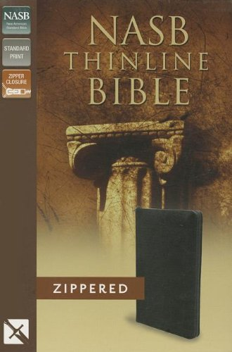Nasb, Thinline Zippered Collection Bible, Bonded Leather, Black, Red Letter Edition