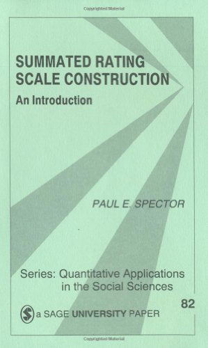 Summated Rating Scale Construction: An Introduction (Quantitative Applications In The Social Sciences)