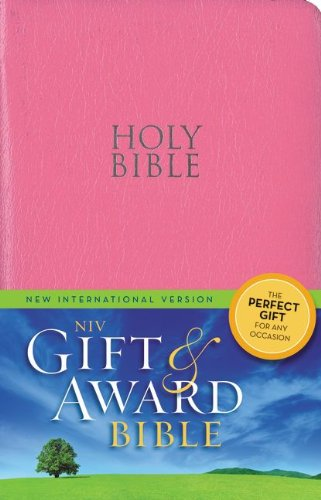 Niv, Gift And Award Bible, Leather-Look, Pink, Red Letter Edition