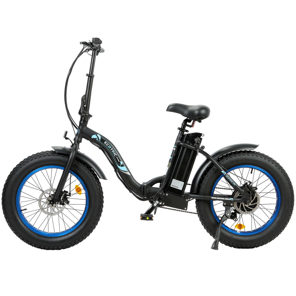 UL Certified-Ecotric black Portable and folding fat bike model Dolphin