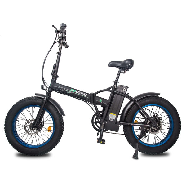 Ecotric 48V Fat Tire Portable and Folding Electric Bike with LCD display-senior-MBL