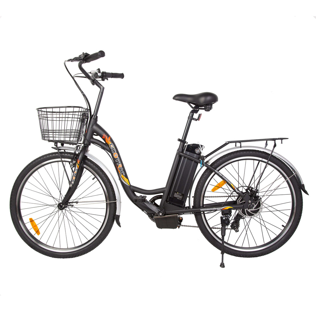 Ecotric Peacedove black electric city bike-junior