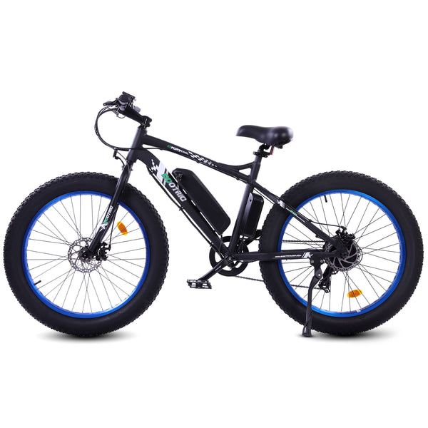 Ecotric Fat Tire Beach Snow Electric Bike - Blue
