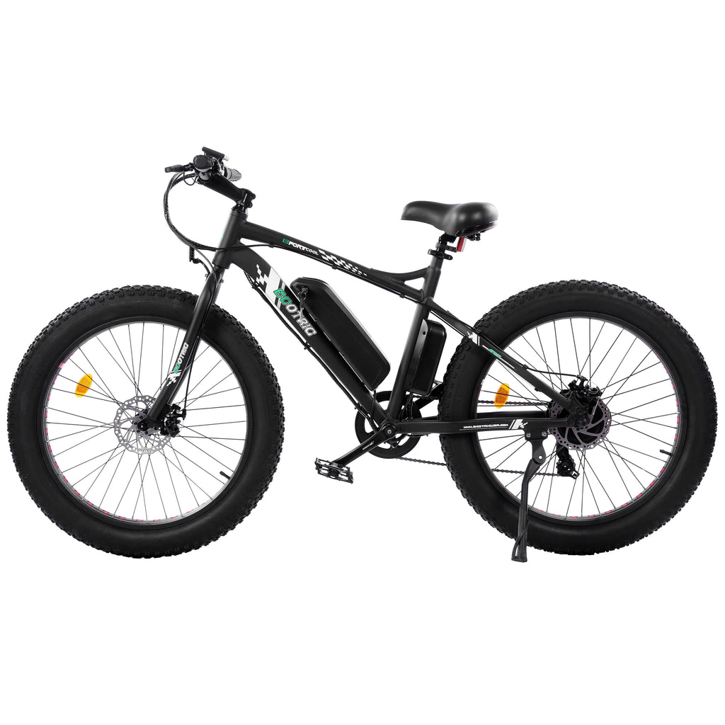 Ecotric Fat Tire Beach Snow Electric Bike-Matt Black
