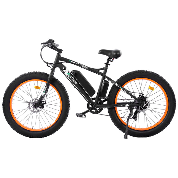Ecotric Fat Tire Beach Snow Electric Bike-Orange