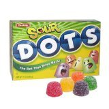 Sour Dots Candy 7 Ounce Theater Size Packs 12 Boxes