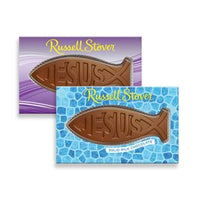 Russell Stover Solid Milk Chocolate Jesus Fish, 2.5 oz.