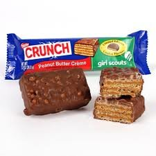 Nestle Crunch Girl Scouts Peanut Butter Creme Candy Bar 1.3oz