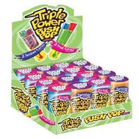Topps Triple Power Push Pop Candy - 16 / Box