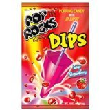 Red Sour Strawberry Pop Rocks Dips Candy Packs 1 Count