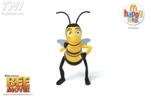 2007 McDonald's Bee Movie Happy Meal Toy: #5 Barry B. Benson