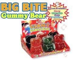 Big Bite Giant Gummy Bears Candy 1 Count (One color selected at random)