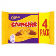 Cadbury Crunchie Milk Chocolate With Honeycomb Center 4 Pack