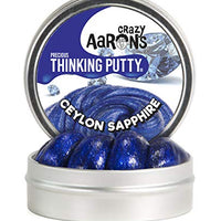 Crazy Aaron's Thinking Putty 1.6 oz Tin - Precious Metals Ceylon Sapphire - Sparkle Putty, Soft Texture - Never Dries Out