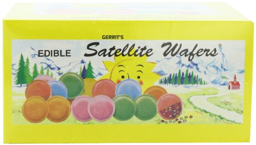 Gerrit's Satellite Wafers, Filled with  Assorted Candy Beads, 10.5 Oz.  240-Count Boxes (Pack of 2)