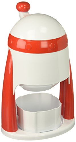 Jelly Belly JB15333 Portable Manual Ice Shaver Perfect for Snow Cones and Slushies, Red