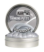 "Crazy Aaron's Thinking Putty 4"" Tin (3.2 oz) Quicksilver - Magnetic Putty - Magnet Included - Never Dries Out"