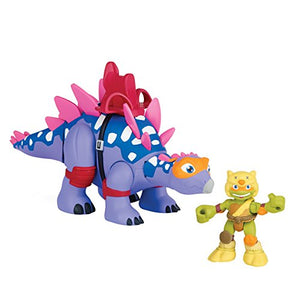 Teenage Mutant Ninja Turtles Pre-Cool Half Shell Heroes Battle Dino Stegosaurus/Michelangelo Vehicle & Figure