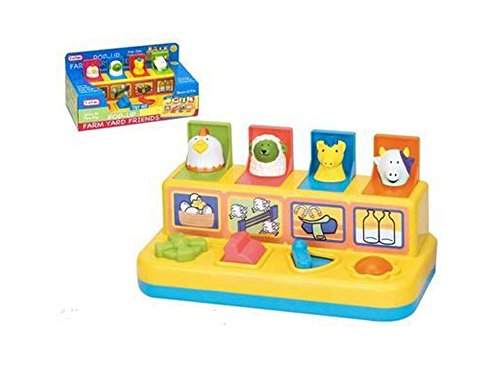 Castle Toys Push, Slide, Click & Turn Pop-Up Farm Yard Friends Play Set
