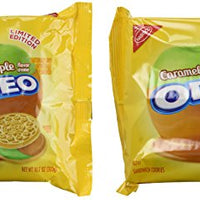 Nabisco, Oreo, Limited Edition, Caramel Apple Creme Golden Sandwich Cookie, 12.2oz Bag (Pack of 2)