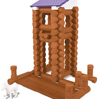 LINCOLN LOGS - Country Meadow Cottage - 137 Pieces - Ages 3+ Preschool Education Toy