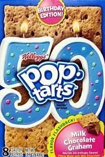 Kellogg's, Pop-Tarts, 50th Anniversary, Milk Chocolate Graham, 14.1oz Box (Pack of 3)