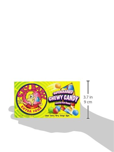 Cry Baby Assorted Flavors Supercharged Chewy Candy 3.75oz. Pack of 12